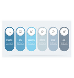 business infographics with 6 steps options vector image