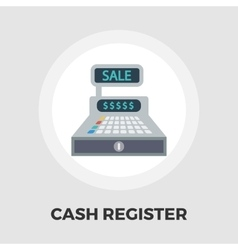 Cash register flat icon vector