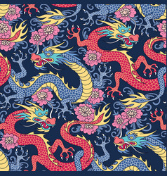 Chinese gragons pattern vector