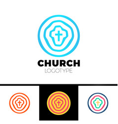 church logo christian symbols circles target vector image