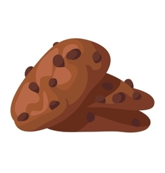 Cookie cake isolated vector image