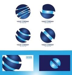 Corporate sphere logo icon set vector