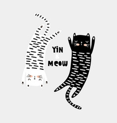 cute cat childish print perfect for t-shirt vector image