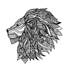 Decorative Lion Head vector image
