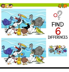 Differences game with birds vector