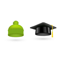 different kind of fashion green hat modern vector image