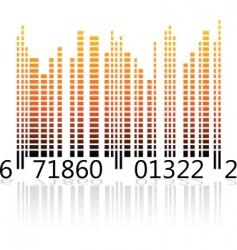 Digital barcode vector