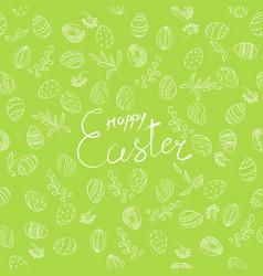 easter floral pattern vector image