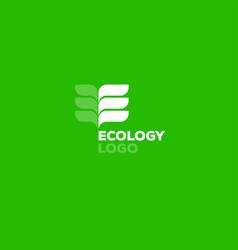 ecology logo e monogram vector image