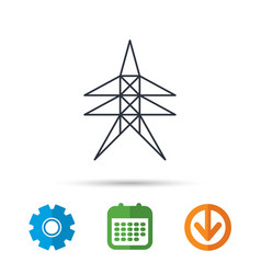 electricity station icon power tower sign vector image