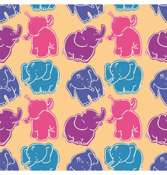 Elephants vector image