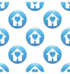 Family house sign pattern vector image