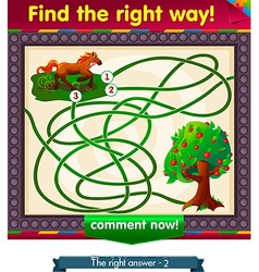 Find the right way apple vector