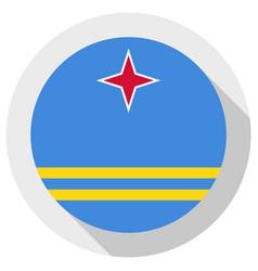 Flag aruba round shape icon on white background vector