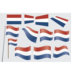flags of Netherlands vector image