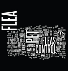 Flea control for home and pet owners text vector