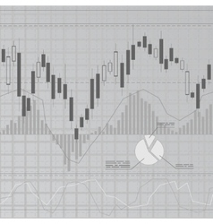 Gray finance background vector image