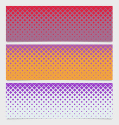 Halftone diagonal square pattern banner design set vector