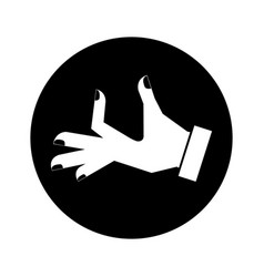 Hand human taking isolated icon vector