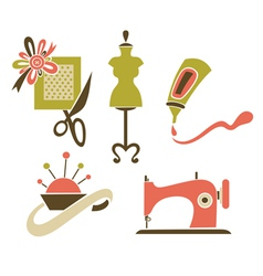 Hand made objects vector