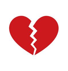 heartbreak broken heart or divorce icon vector image