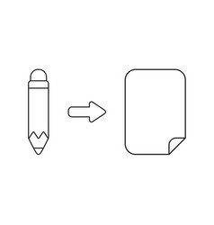 icon concept pencil with paper vector image