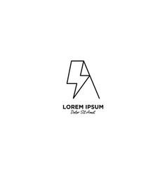 Letter a flash logo design vector