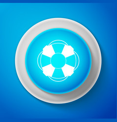 Lifebuoy icon on blue background lifebelt symbol vector