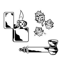 Marijuana smoking devise vector