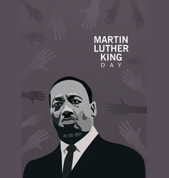 Martin luther king character celebration day with vector