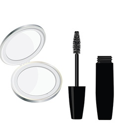 Mirror and mascara vector image