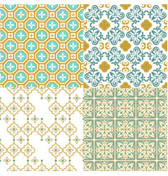 moroccan ornamental seamless pattern traditional vector image