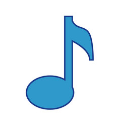 Musical note icon vector