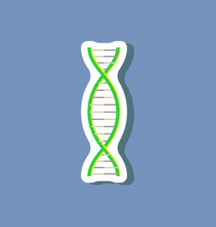 paper sticker on stylish background dna vector image