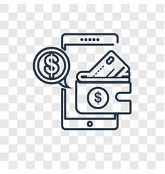 Payment method concept linear icon isolated on vector