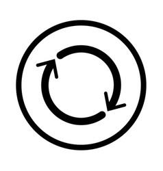 Reset icon - iconic design vector