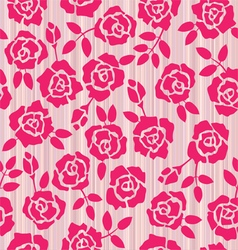 Retro floral seamless pattern roses vector image