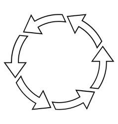 Rotation ccw thin line icon vector