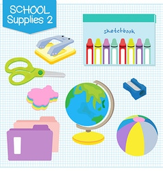 school supplies2 vector image
