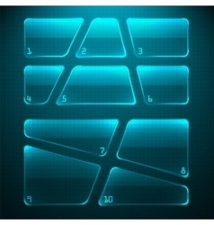 Set of transparent glass plates vector image