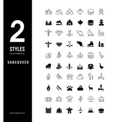simple line icons vancouver vector image