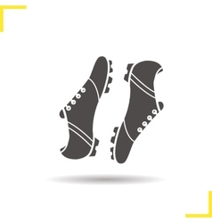 Soccer boots icon vector