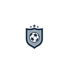 soccer shield logo icon design vector image