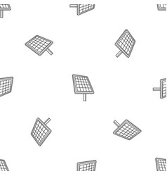 solar panel icon outline style vector image