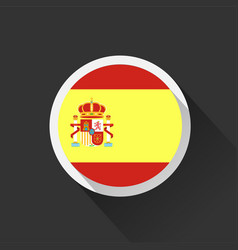 Spain national flag on dark background vector