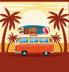 summer and beach cartoon vector image