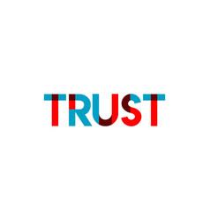 Trust template design vector