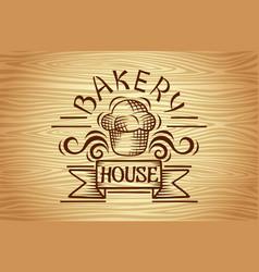 vintage bakery labels design elements vector image