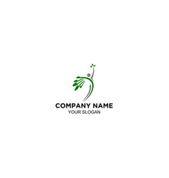wellness pilates body logo design vector image
