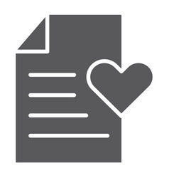 wish list glyph icon paper and document vector image